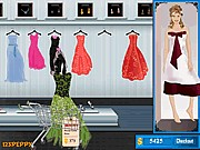 Thumbnail of Shop N Dress Make Up Matching Game: Flower Gown
