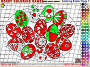 Coloring Easter Eggs 1 - Rossy Coloring Games thumbnail