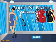 Thumbnail of Shop N Dress Basket Ball Game: Rock Girl Dress
