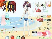 Thumbnail of Beach Doll Dressup