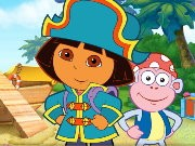 Thumbnail of Dora The Explorer Pirate Boat Treasure Hunt