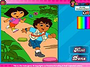 Dora and Diego Adventure Coloring 2 thumbnail