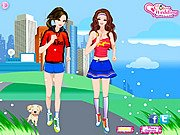 Thumbnail of Barbie and Ellie Jogging Dressup