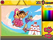 Thumbnail of Dora Crystal Kingdom Coloring
