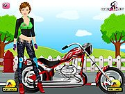 Thumbnail of Biker Girl Dress Up