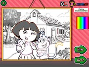 Thumbnail of Dora School Coloring