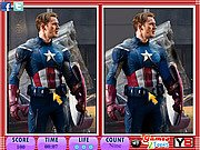Thumbnail of 10 Differences - Captain America
