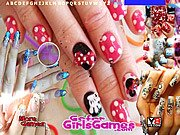 Thumbnail of Beautiful Girl Nails Design Hidden Letters