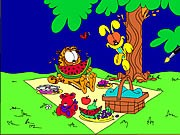 Garfield Online Coloring Game thumbnail