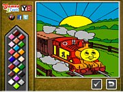 Thomas the Tank Online Coloring thumbnail