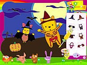 Piglet and Pooh on Halloween thumbnail