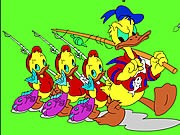 Thumbnail of Donald and Family Online Coloring Game