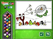 Thumbnail of Angry Birds Online Coloring Game