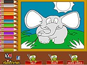 Thumbnail of Elephant Coloring Game