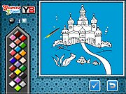 Thumbnail of Ocean Castle Online Coloring Game