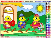 Coloring Easter Chicks - Rossy Coloring Games thumbnail