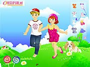 Thumbnail of Kids Couple on Field