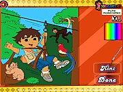 Thumbnail of Diego Forest Adventure Coloring