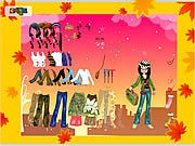 Thumbnail of Autumn Post Card Dress Up