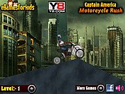 Thumbnail of Captain America Motorcycle Rush