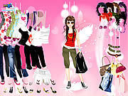 Thumbnail for Pink Feather Dress Up