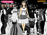 Thumbnail for Leena Black & White Dressup