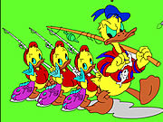 Thumbnail for Donald and Family Online Coloring Game