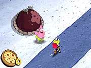 Thumbnail of Sponge Bobs Pizza Toss