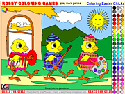 Thumbnail for Coloring Easter Chicks - Rossy Coloring Games