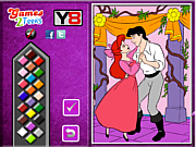 Thumbnail for Princess Ariel  and Eric Online coloring