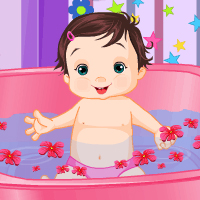 Thumbnail for  Playful baby bathing