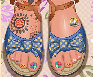 Thumbnail of Toe Nail Design