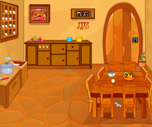 Thumbnail of Wooden Dining Room Escape