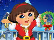 Thumbnail of Dora Christmas Dressup