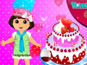 Thumbnail of Dora Valentine Day Cake