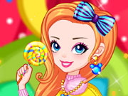 Thumbnail of Rainbow Girl with Lollipop