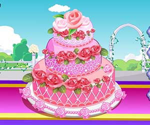 Thumbnail for Rose wedding cake 2