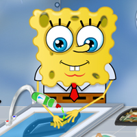 SpongeBob washing dishes thumbnail