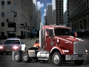 18 Wheeler In Traffic thumbnail