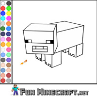 Color Pig Minecraft thumbnail