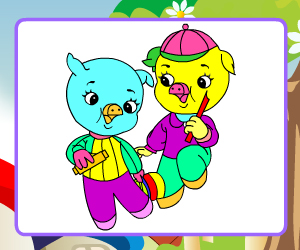 Jolly Pigs Coloring thumbnail