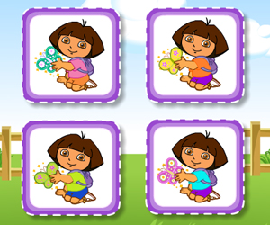 Thumbnail of Dora Cute Butterfly Matching