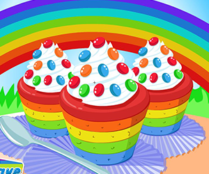 Thumbnail of Cooking Rainbow Cupcakes