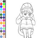 Thumbnail of Coloring Princess Elsa Sad