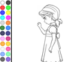 Thumbnail of Coloring Princess Anna Sad