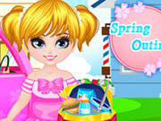 Thumbnail of Cute Baby Girl Spring Outing