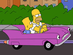 Thumbnail of The Simpsons Car Puzzle