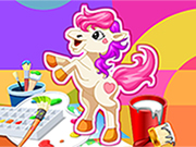 Thumbnail of Pony coloring game