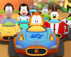 Thumbnail of Garfield Kart Puzzle