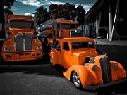 Orange Trucks Puzzle thumbnail